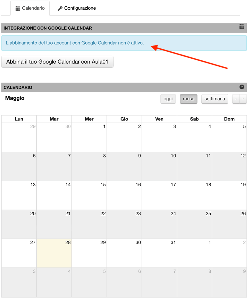 Sincronizzare Calendario.Sincronizzare Il Calendario Di Aula01 Con Google Calendar