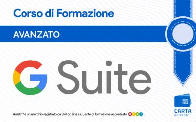 Corso G Suite Avanzato per Certificazione Google Educator Lev. 1